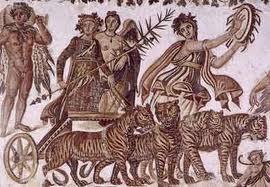 Saturnalia 9 - Dionysus celebrating Brumalia - Roman mosaic